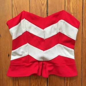 Lucca Couture Urban Outfitters Chevron Corset Top